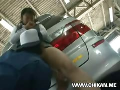 Shy Girl ravished in Car Garage