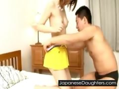 Daddy likes to violate japanese teen ass