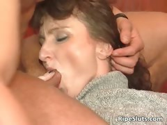 Blonde and brunette are two horny mature part1