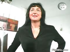 Busty mature shows her massive tits part2