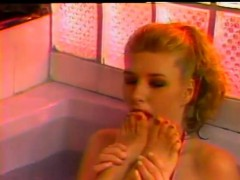 Mistresses make their slaves lick their feet