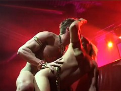 couple fucking on public stage