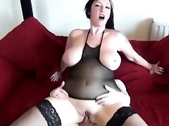 Stunning hooker rides on a thick shaft