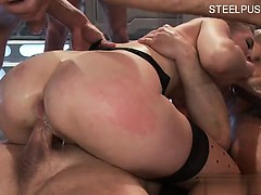 Daughter doggy anal
