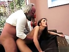 Busty wife deepthroat gag